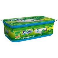 Swiffer Sweeper Wet Mopping Pad Refills for Floor Mop Gain Scent, 28 Count