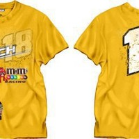 # 18 Kyle Busch M&M's All Around Nascar T-Shirt ,XL