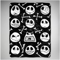 Nightmare Before Christmas 'Bone Buster' Fleece Blanket - Spencer's