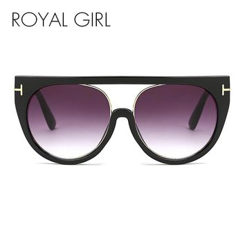 ROYAL GIRL Unique Goggles Sunglasses Women Vintage Oversized UV400