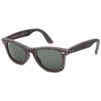 Ray-Ban Original Wayfarer Denim Sunglasses Black Denim One Size For Men 25614582101