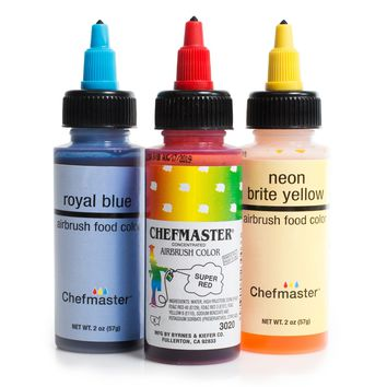 Chefmaster Food Coloring Cake Decorating Paint Set - 3 Primary Colors - 2.0 oz
