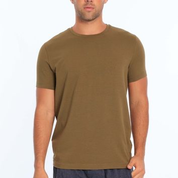 Men's Lycra Crew Neck T-Shirt