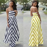 Vintage Long Maxi Evening Party  Dress Sundress Sexy