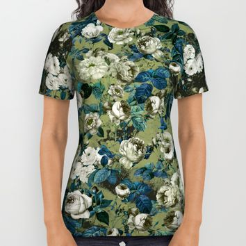 Midnight Garden All Over Print Shirt by Burcu Korkmazyurek