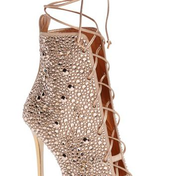 Giuseppe for Jennifer Lopez Lynda Embellished Lace-Up Sandal (Women) | Nordstrom