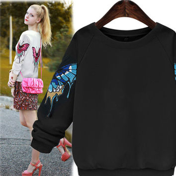 Melting Butterfly Sweatshirt - 2 Colors