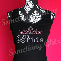 Princess Bride Chic Rhinestone Tank Top or Tee in SM - 3XL All Colors Available