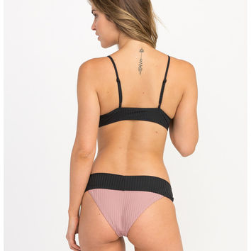Rockaway Ribbed Medium Bikini Bottoms | RVCA