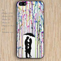 iPhone 6 case dream colorful waterfolor Lovers iphone case,ipod case,samsung galaxy case available plastic rubber case waterproof B148
