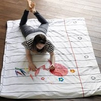 Doodle Duvet - Draw on it, Wash it, Do it again on the redditgifts Marketplace