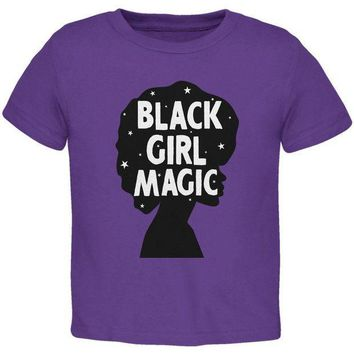 ESBGQ9 Black History Month Black Girl Magic Afro Toddler T Shirt