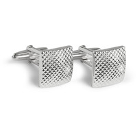 Lanvin Engraved Silver-Plated T-Bar Cufflinks | MR PORTER