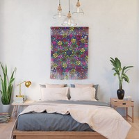 Flower Power Doodle Art Wall Hanging by gx9designs