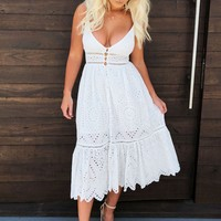 Leaning On You Dress: White
