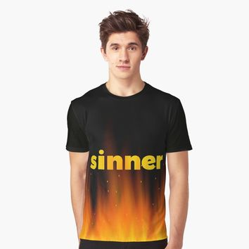 'Sinner' T-shirt graphique by hypnotzd