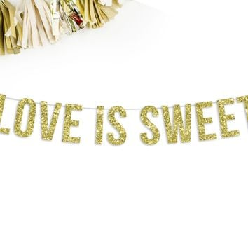 LOVE IS SWEET Party Banner