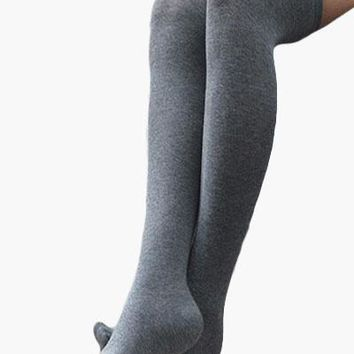 Pack of 3 Plain Thigh High Socks - Special Offer