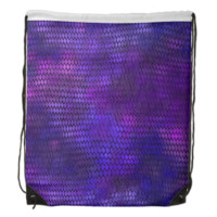 Purple Dragon Scales Drawstring Backpack