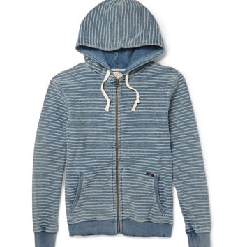 Faherty - Indigo-Dyed Cotton-Terry Hoodie | MR PORTER