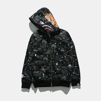 Bape Shark Casual Long-Sleeved Sweater Hooded Jacket