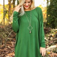 PIKO: Just About Anywhere Tunic-Evergreen