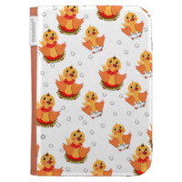 Cute Little Ducks and Water Bubbles Pattern Kindle 3G Cases