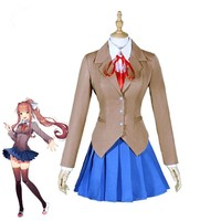 Halloween Doki Doki Literature Club Sayori Yuri School Uniform Cosplay Costume