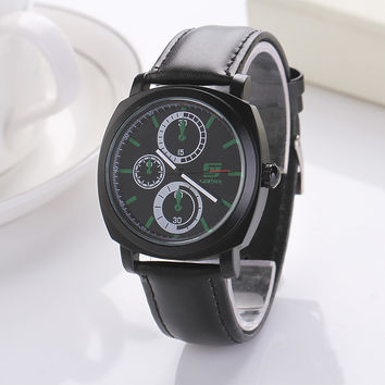 Cool Design Leather Watch with Gift Box