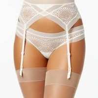 Calvin Klein CK Black Endless Sheer Lace Garter QF1877 - Ivory/Cream M