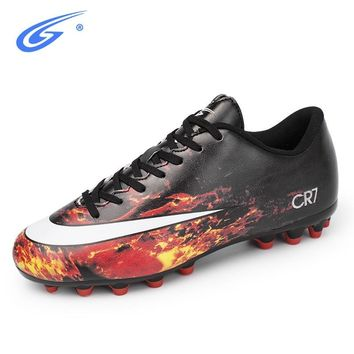 ZHENZU New Professional Football Shoes Boots Men Soccer Shoes Outdoor Sports Sneakers AG Soles Cleats chaussure de foot voetbal