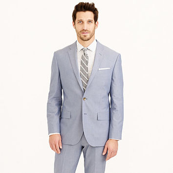 Crosby suit jacket in Italian cotton oxford cloth - ludlow - Men - J.Crew