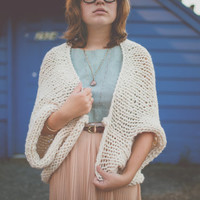 The Oversized Chunky Knit Sweater Shrug