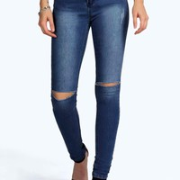 Holly High Waisted Split Knee Skinny Jeans
