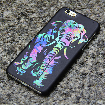 Elephant iPhone 6 6s case iPhone 6 plus iPhone 5S 5 iPhone 4S/4 Case Samsung Galaxy S6 edge S6 S5 S4 Note 3 Case Turquoise and Purple 011