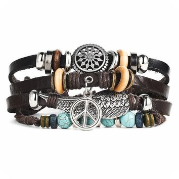 Turkish Eye Mystic Leather Bracelets