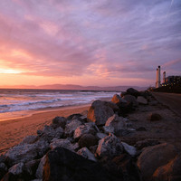 Towers Huntington Beach California Matted by KimLucianPhotography