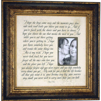 Wedding, Lyrics, Song, Vows, Personalized Wedding Gift, Anniversary, MY WISH For You, 16 X 16