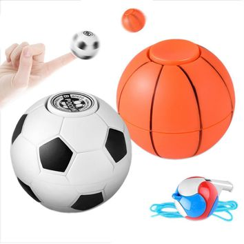 Football Basketball Finger Hand Spinner EDC Stress Relief Gyro Toy