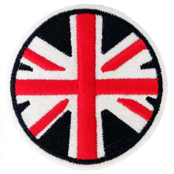 Large 7cm Union Jack MOD Vespa Circle Patch/Badge Great for Parka or Jacket Back!