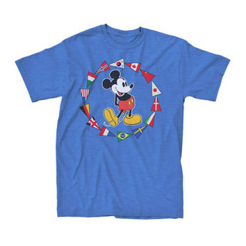 Short-Sleeve Mickey Mouse Pennant Flags Tee - JCPenney