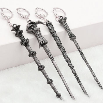 Alloy Ornament Magic Wand Key Chain