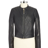 Vince Camuto Quilted Leather Moto Jacket
