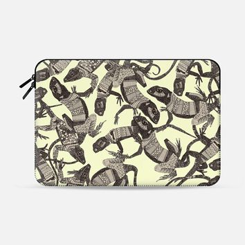 just lizards natural Macbook Pro 13 sleeve by Sharon Turner | Casetify