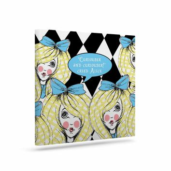 "KESS InHouse Zara Martina ""Curious Alice"" Blue Black Canvas Art, 8"" by 10"""