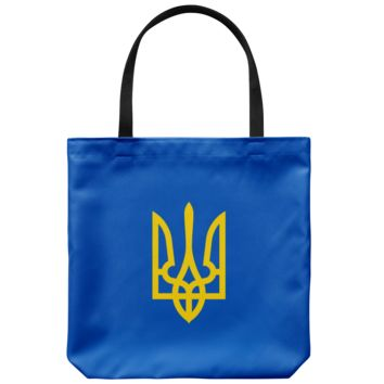 Tryzub (Yellow) - Tote Bag