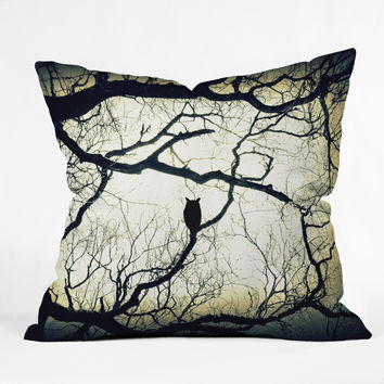 Shannon Clark Mysterious Woods Outdoor Throw Pillow