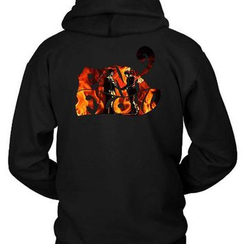 CREYH9S Pink Floyd Wish You Were Here Title Burn Hoodie Two Sided