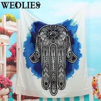 Polyester Indian Mandala Tapestry 145x145cm Wall Hanging Bohemian Bedspread Dorm Cover Home Room Decor Textiles