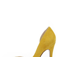 Chinese Laundry Copertina Yellow Kid Suede D'Orsay Heels